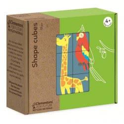 Clementoni Shapes Animal Cubes Puzzle Eco Παζλ Κύβοι Ζωάκια 12 Τεμαχίων 1265-16228 8005125162284