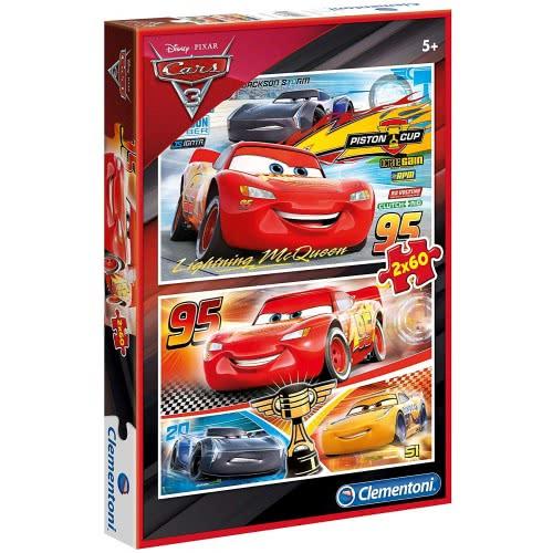 Clementoni Disney Pixar Cars Super Color Αυτοκίνητα 3 Παζλ 2X60 1200-07131 8005125071319