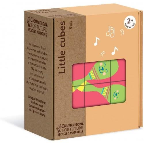 Clementoni Little Cubes Eco Παζλ Κύβοι Αντικείμενα 6 Τεμαχίων 1265-16229 8005125162291