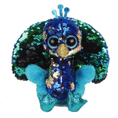 Flippable Tyson Peacock Χνουδωτό Sequin Παγώνι 15 Εκ. 1607-36349 008421363490