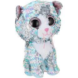 ty Flippable Whimsy Χνουδωτό Sequin Γάτα Μπλε Ιριδίζουσα 15 Εκ. 1607-36674 008421366743