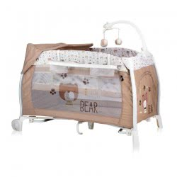 Lorelli Ilounge Baby Folding Umbrella Cot Beige 1008002 1938 3800151962533