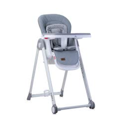 Lorelli Highchair Party Highchair Castors Height Backrest Footrest Table Are Adjustable, Colour:Grey 1010037 1987 3800151981701