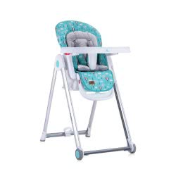 Lorelli Highchair Party Highchair Castors Height Backrest Footrest Table Are Adjustable, Colour:Turquoise 1010037 1990 380015198