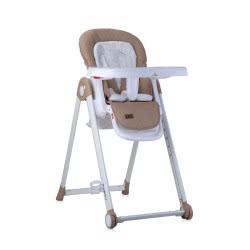 Lorelli Highchair Party Highchair Castors Height Backrest Footrest Table Are Adjustable, Beige 1010037 2037 3800151981749