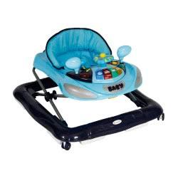 Lorelli Bertoni Baby Walker And Rocker W1224ce 2 In 1 Height-Adjustable, Music, Light, Colour:Dark Blue 1012037 0004 38001519618
