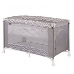 Lorelli Baby Travel Cot Verona Playpen, Carrycot, 2 Levels Side Opening, Colour:Grey 1008026 1941 3800151962854