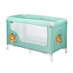 Lorelli Baby Travel Cot Remo, Playpen, Baby Cot With Wheels, Carrying Bag, Colour:Turquoise 1008001 1920 3800151962380