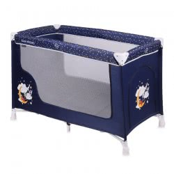 Lorelli Baby Travel Cot Remo, Playpen, Baby Cot With Wheels, Carrying Bag, Colour:Dark Blue 1008001 1936 3800151977858