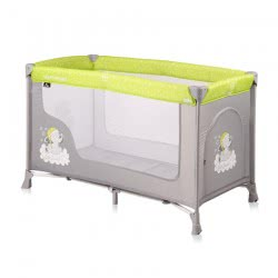 Lorelli Baby Travel Cot Remo, Playpen, Baby Cot With Wheels, Carrying Bag, Colour:Grey Green 1008001 1937 3800151977865