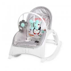 Lorelli Baby Bouncer And Chair Enjoy With Vibration, Music, Adjustable Backrest, Colour:Light Gray 1011011 2036 3800151977971