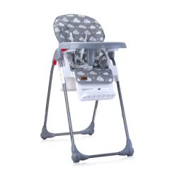 Lorelli Highchair Oliver, Backrest And Height Adjustable, Castors, Many Extras, Grey White 1010025 2030 3800151903840