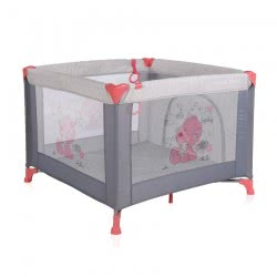 Lorelli Travel Stable Game Zone, Mattress, Side Opening, Foldable, Carrying Bag, Colour:Pink 1008014 1878 3800151974529