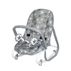 Lorelli Baby Rocker, Baby Rocker TOP Relax, Adjustable, Chair, Carrying Handle, Colour:Grey Stars 1011002 2015 3800151963721