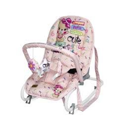 Lorelli Baby Rocker, Baby Rocker TOP Relax, Adjustable, Chair, Carrying Handle, Pinkish Pink 1011002 2046 3800151963752
