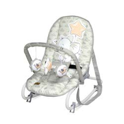 Lorelli Baby Rocker, Baby Rocker TOP Relax, Adjustable, Chair, Carrying Handle, Colour:Grey White 1011002 2048 3800151963769