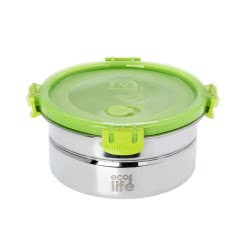 eco life Stainless Steel Food Dispencer 1Lt With Plastic Lid 33-FC-9077 5202200001503