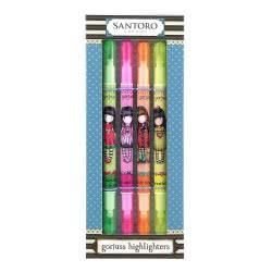 Santoro London Gorjuss Hightlighter Marker Pack Of 4 579GJ02 5018997620502