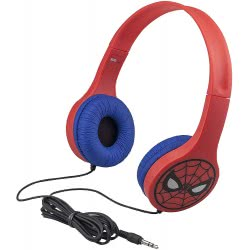 eKids Spiderman Headphones With Child-friendly Sound Levels Protect Hearing for Child-friendly Safe Listening SM-V126 8195590204