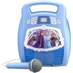 eKids Frozen 2 Bluetooth MP3 Karaoke With LED Light Show Blue FR-553 092298945262