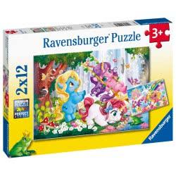Ravensburger Παζλ 2X12 Τεμ. Μαγικοί Μονόκεροι 05028 4005556050284