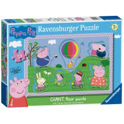 Ravensburger Peppa Pig 24Pc Giant Floor Puzzle With Large Shaped Character Pieces, 030262 4005556030262