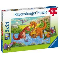 Ravensburger Παζλ 2X24 Τεμ. Δεινόσαυροι 05030 4005556050307