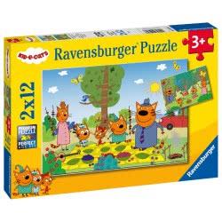 Ravensburger Puzzle 2X12 Pieces Cat Family 05079 4005556050796