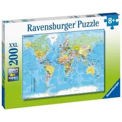 Ravensburger Puzzle 200Xxl Pieces World Map 12890 4005556128907