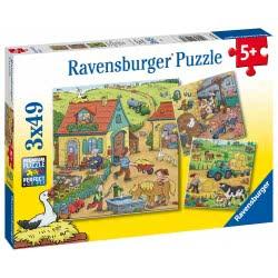 Ravensburger Puzzle 3X49 Pieces Farm 05078 4005556050789