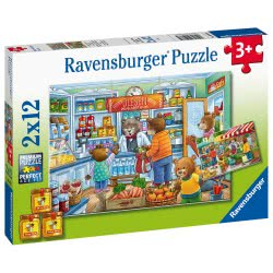 Ravensburger 2X12 Pcs Puzzle At The Grocery Store 05076 4005556050765
