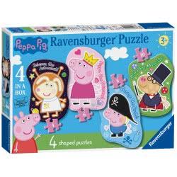 Ravensburger Peppa Pig 4 Shaped Jigsaw Puzzles (4,6,8,10Pc) 06981 4005556069811