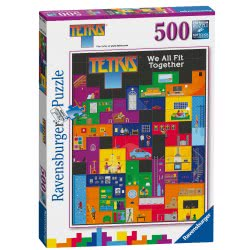 Ravensburger Tetris-We All Fit Together 500Pc Jigsaw Puzzle, 15002 4005556150021