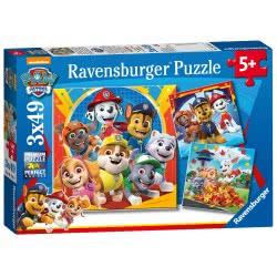 Ravensburger Paw Patrol 3X 49Pc Jigsaw Puzzles, 05048 4005556050482