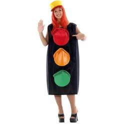 CLOWN Carnaval Costume Traffic Light Adults No OS