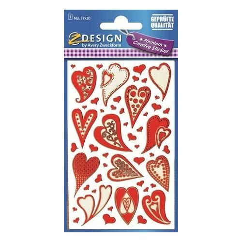 ZDesign Αυτοκόλλητα Ζ Design Creative Premium Καρδιές Μοτίβα 57520 4004182575208
