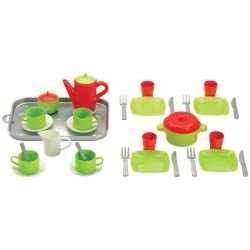 ecoiffier Dining set on a tray 972 3280250009726