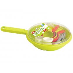 ecoiffier Frying pan with dining accessories 973 3280250009733