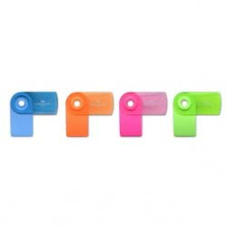 Faber-Castell Fc Rr Mini Sleeve Eraser Fluo 182460 12307436 9556089003162