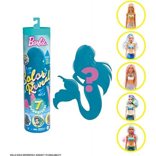 Barbie  შექმენი შენი ბარბი 7 სიურპრიზით,  ქალთევზა