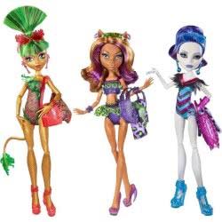 Mattel Monster High Κούκλες Beach (3 Σχέδια) CBX53 887961016765