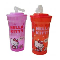 graffiti Ποτήρι Με Καλαμάκι Phone Hello Kitty 2 Χρώματα 14847 5202860148471