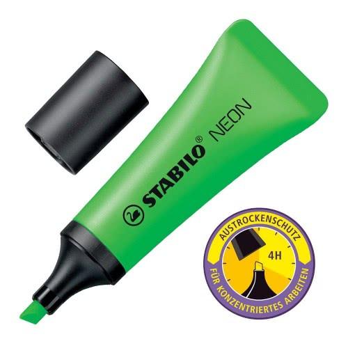 STABILO Μαρκαδόρος Neon Υπογράμμισης Πράσινο 128072042 4006381401074