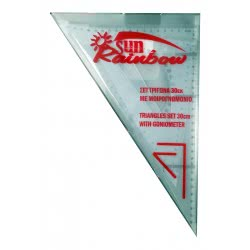 LUNA OFFICE Σετ Τρίγωνα Με Μοιρογνωμόνιο 30Cm 0610008 5205698063947