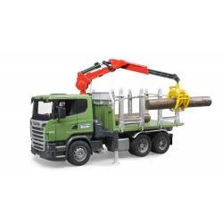 bruder Φορτηγό Scania μεταφοράς ξύλων με 3 κορμούς BR003524 4001702035242