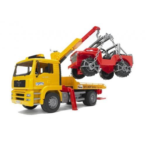 bruder Φορτηγό MAN Οδικής Βοήθειας Με Γερανό & Τζιπάκι BR002750 4001702027506
