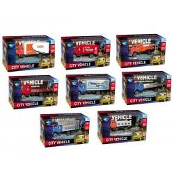 Toys-shop D.I Μεταλλικά φορτηγά 1:64 City vehicles KD265270(1-8) 5262088652709