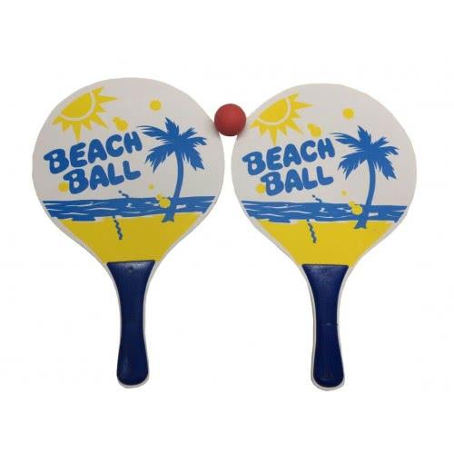 Toys-shop D.I Ρακέτες Beach Ball Σετ Με Μπαλάκι Παραλίας JQ009636 6990416096367