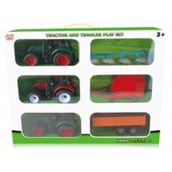 Toys-shop D.I FRICTION ΣΕΤ ΤΡΑΚΤΕΡ ΜΕ ΡΥΜΟΥΛΚΟΥΜΕΝΟ JA056599 5262088565993