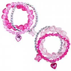 Pink Poppy Βραχιόλι Τριπλό Ροζ / Φούξια / Νίκελ 0804532 BCT-302 9321268093254